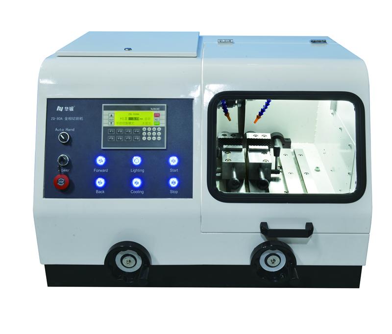 MODEL ZQ-80A MANUAL/AUTOMATIC METALLOGRAPHIC SPECIMEN CUTTING MACHINE